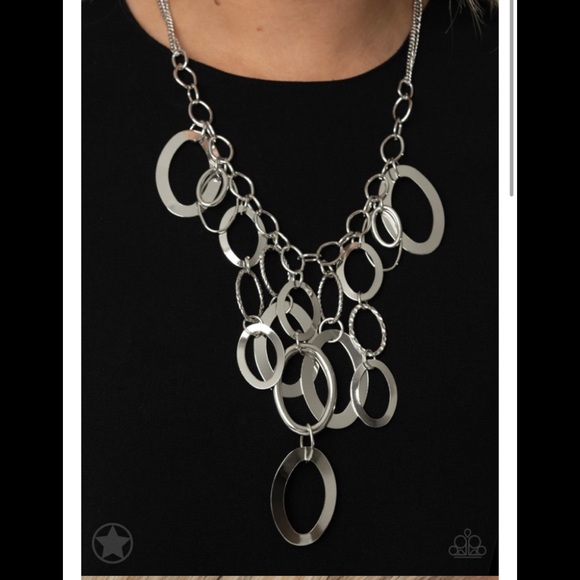 4 for $20. Silver hoop necklace